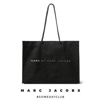 MARC JACOBS Oversized Plain All- Match Shopper Classic Must Have Tote Shoulder Bag (Black)