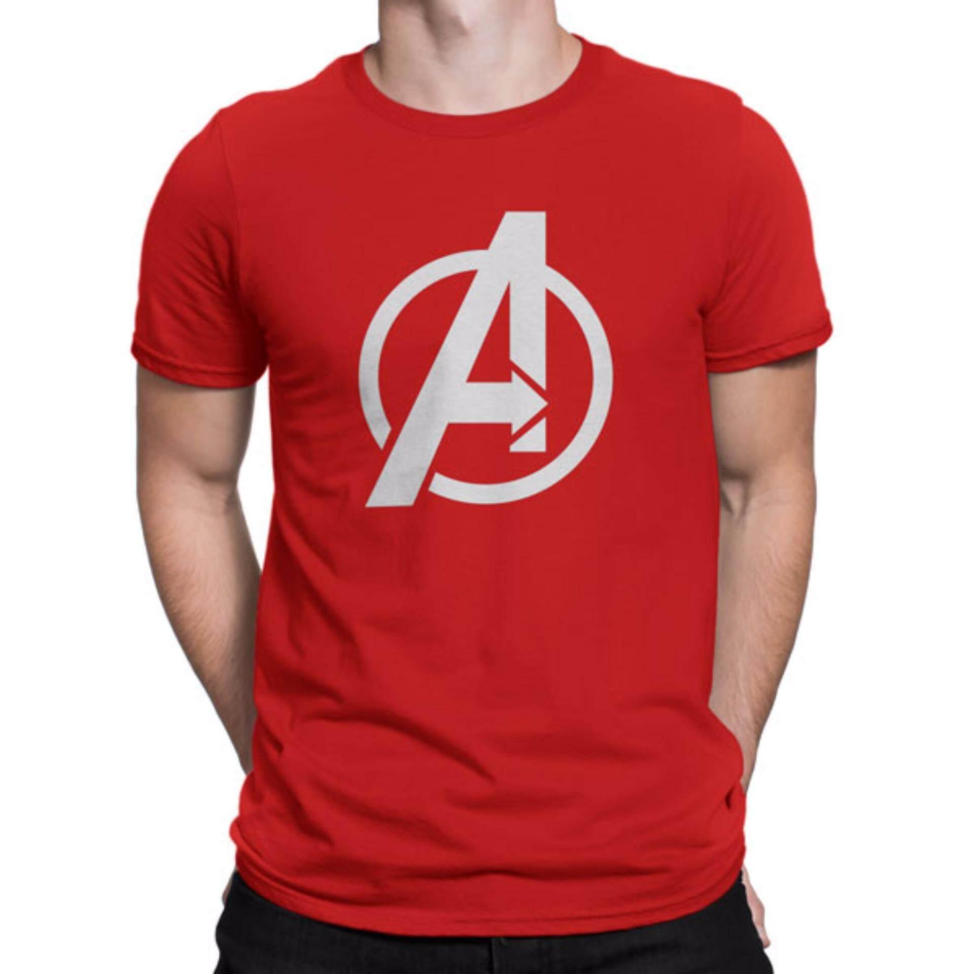 T shirt design red - Marvel Avengers Logo Custom Design Graphic Cotton Mens Red T Shirt Lazada Malaysia