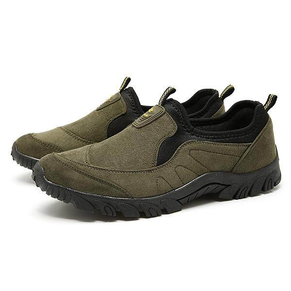 Men Canvas Elastic Slip On Light Weight Sports Outdoors Walking Shoes  Sneakers - intl