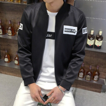 Men's Korean-style Slim Fit Leisure Cardigan Sweater (Arrow-black)