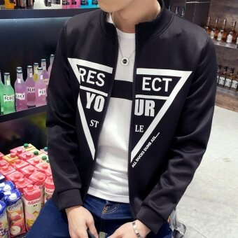 Men's Korean-style Slim Fit Leisure Cardigan Sweater (Your-black)