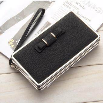 New Women PU Leather Long Wallet Bowknot Money Purse Ladies CardHolder Coin Phone Clutch Handbag