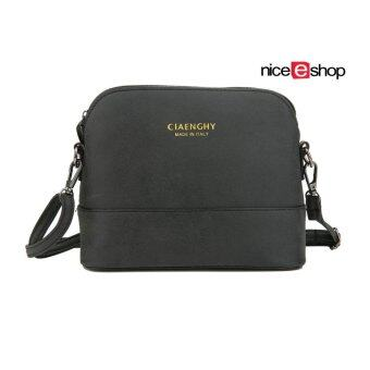 niceEshop Women Vintage Frosted PU Leather Messenger Bag