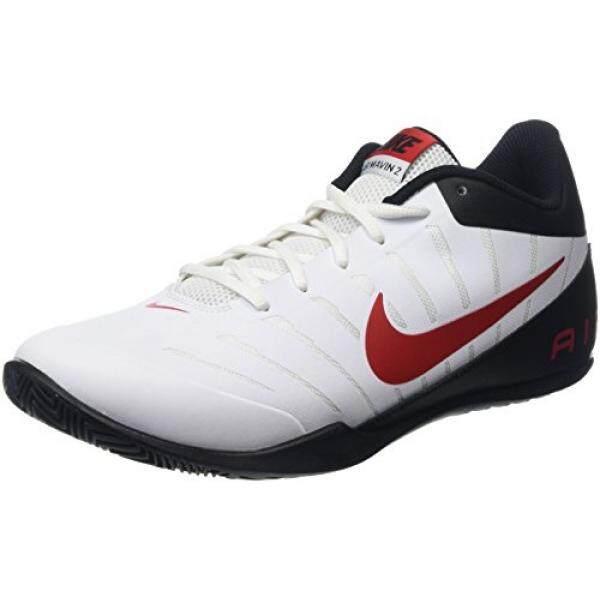 Nike Pria Udara Mavin Rendah 2 Putih/Universitas Merah/Hitam/WLF GRY Sepatu Keranjang 10 Pria Amerika Serikat -Internasional