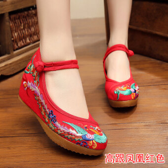 Old Beijing female Chinese clothing shoes cloth shoes (Red)