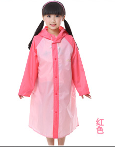 Paradise with school bag-for men and women raincoat children raincoat (Pink) (Pink)