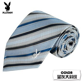 PLAYBOY little groom wedding gift dress tie (Slate big twill (10cm)) (Slate big twill (10 cm))
