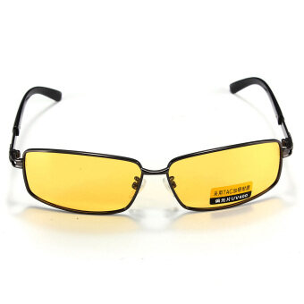 Polarized UV Sunglasses Night Vision Driving Eyewear Shade Glasses UV 400 Yellow