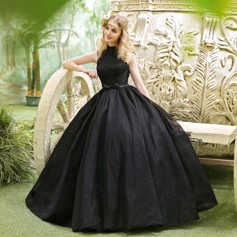 Princess black New style party dress night dress