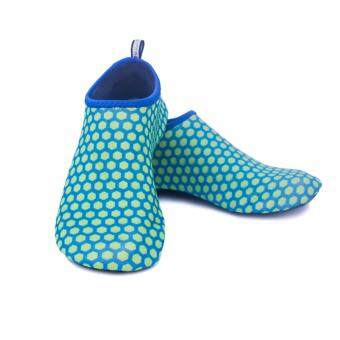 Quick Dry Sports Beach Water Shoes Skin Shoes Aqua Socks For MenAnd Women - Blue Yellow Dot