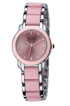 Senda Premium Woman Watch Free Watch Box- Pink