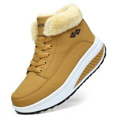 Sheepskin fur snow boots women winter boots 2016 genuine leather casual platform boots wedge warm snowboots ankle shoes yellow 7254 57379961 61226f70196eb5a581ff75dcba121b4d catalog 233