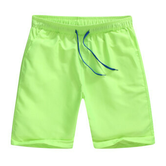 Shorts men summer 5 in five sports pants Plus-sized swimming pantsloose couple beach pants casual big pants tide (Beach pantsfluorescent green)