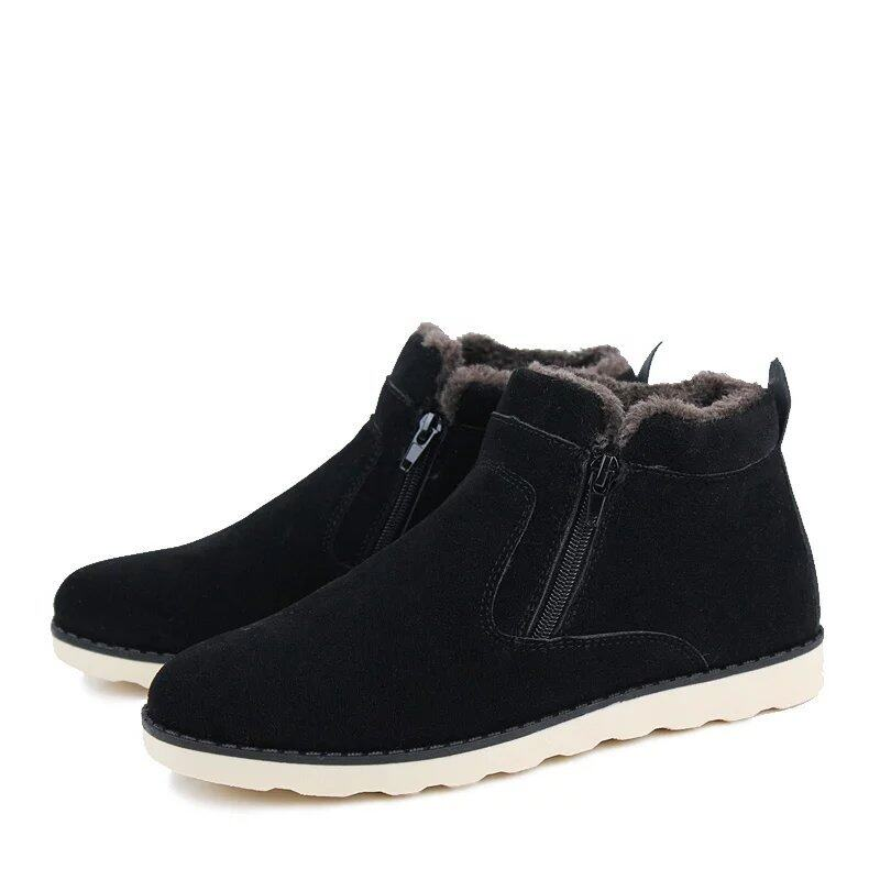 trendy leather combat ankle boots mens army shoes
