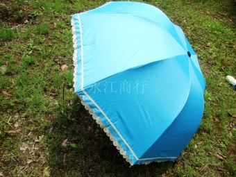 Special Three folding anti-UV vinyl edge SUN umbrella (More than 70of the) (More than 70 of the)