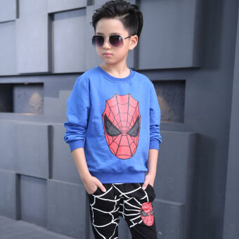 Spider Man New style anniversery children's clothing (Blue) (Blue)