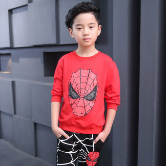 Spider Man New style anniversery children's clothing (Red) (Red)