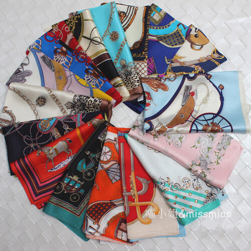 Spring summer Korea 1 TRUE silk inclined line silk fabric silk kerchief mulberry silk Great Hijab - intl