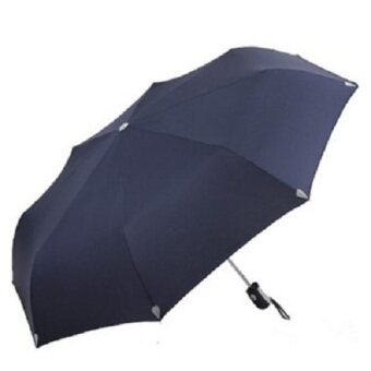 Strong fully automatic folding anti-wind rain or shine umbrella paradise umbrella (Navy blue) (Navy blue)