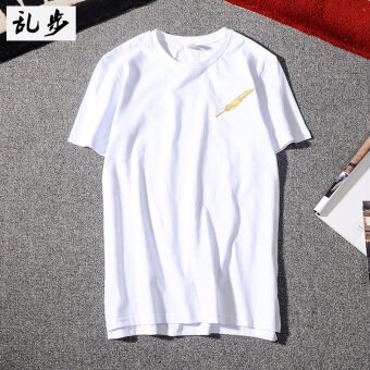 Stylish badminton short sleeved Short sleeve T-shirt (8251 Jin Yumao short sleeved white)