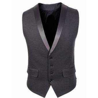 Stylish Men Jacket Suit Vest Slim Fit Vest Casual Business FormalVest Waistcoat