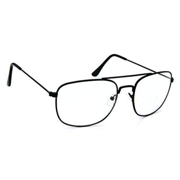 Tantino® Hitam Logam Kacamata Penerbang Kacamata Hitam Persegi Panjang Photochromic Lensa Transisi...-Internasional