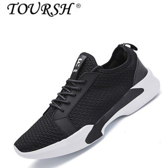 TOURSH Men Fashion Fly Weave Shoes Expolosion Casual Shoes black