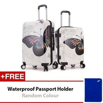 Travel Star Butterfly 2 in 1 Travel Luggage set 20 Inch + 24 Inch