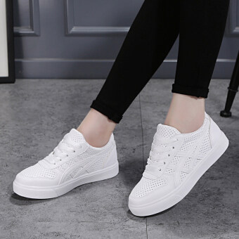 Ulzzang Korean-style female wind versatile casual shoes New style sports shoes (White)