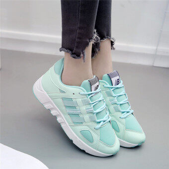 Ulzzang versatile female autumn New style casual shoes Korean-style sports shoes (Green)