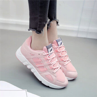 Ulzzang versatile female autumn New style casual shoes Korean-style sports shoes (Pink)