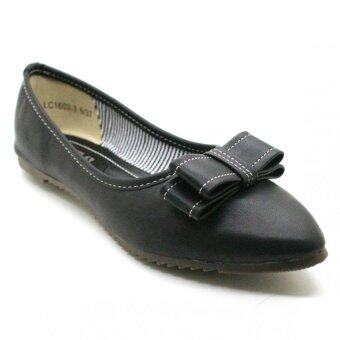 XES Women LC1602-3 Bow Flats (Black)