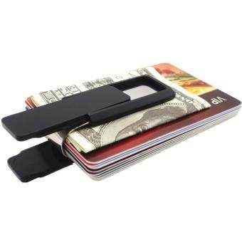 Yixiangqing Stainless Steel Slim Money Clip Wallet Credit CardHolder Black