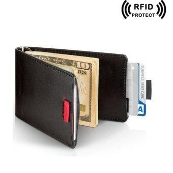 Zelous Men's Slim Bifold Leather Wallet Money Clip Credit Card Holder with RFID Blocker