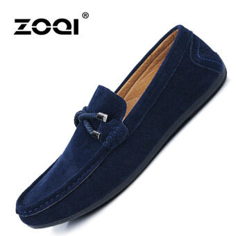 ZOQI man's Slip-Ons&Loafers fashion leather Shoes(Blue). - Int'l
