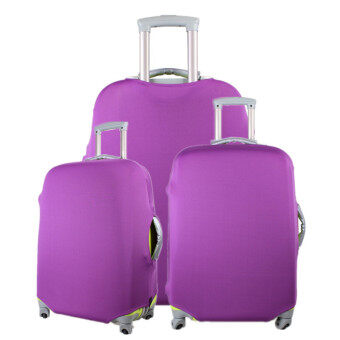 1 x Luggage Protector Elastic Suitcase Cover Bags Dust-proof Case24'' Purple