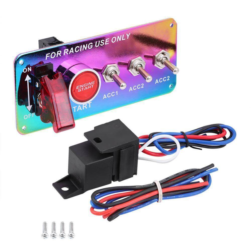 12v Racing Car Engine Ignition Switch Panel Start Push Button Toggle How Do I Wire A And The 7 Color Intl