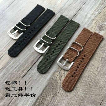 18mm/20mm/22mm/24mm canvas promotional nylon watch strap