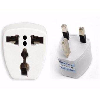 2 x Universal Travel Adapter AU US EU to UK Adapter Converter 3 Pin AC Power Plug Adaptor Connector