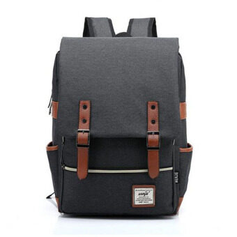 2016 New Fashion Canvas Men Daily Backpacks for Laptop LargeCapacity Computer Bag Casual Student School Bagpacks TravelRucksacks Black
