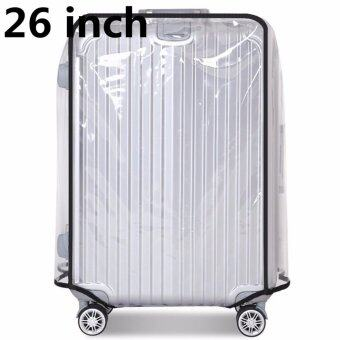 26 inch PVC Transparent Travel Luggage Protector Suitcase CoverUsable Waterproof fashionable 26 inch