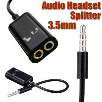 3.5mm TRRS Stereo Audio Male to Earphone Headset + Microphone Adapter For IPhone