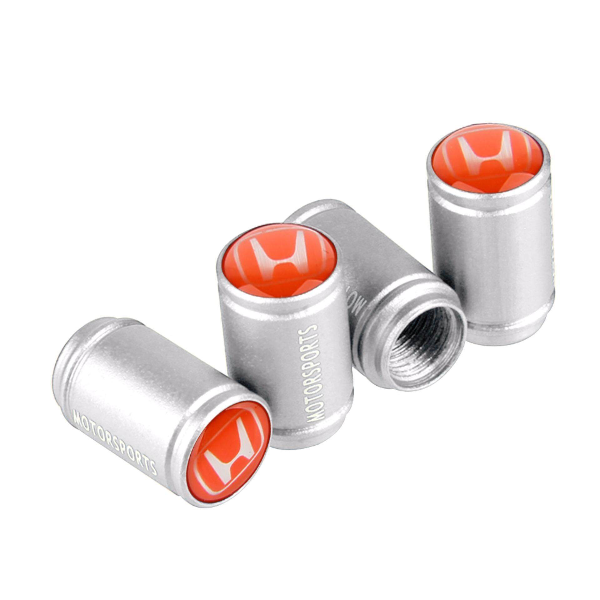 4 Pcs Theftproof Car Honda Logo Wheel Tire Valves Tyre Stem Air Caps Airtight Cover for Honda Accord Civic CRV Fit H-RV Vezel Odyssey City Car-Styling - intl