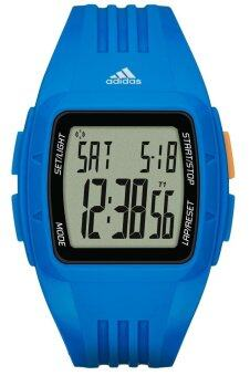 Adidas Performance ADP3234 Duramo LCD Dial Blue Resin Strap Unisex Watch (Blue)