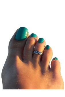 Adjustable Antique Metal Toe Ring Foot Beach Jewelry (Silver)