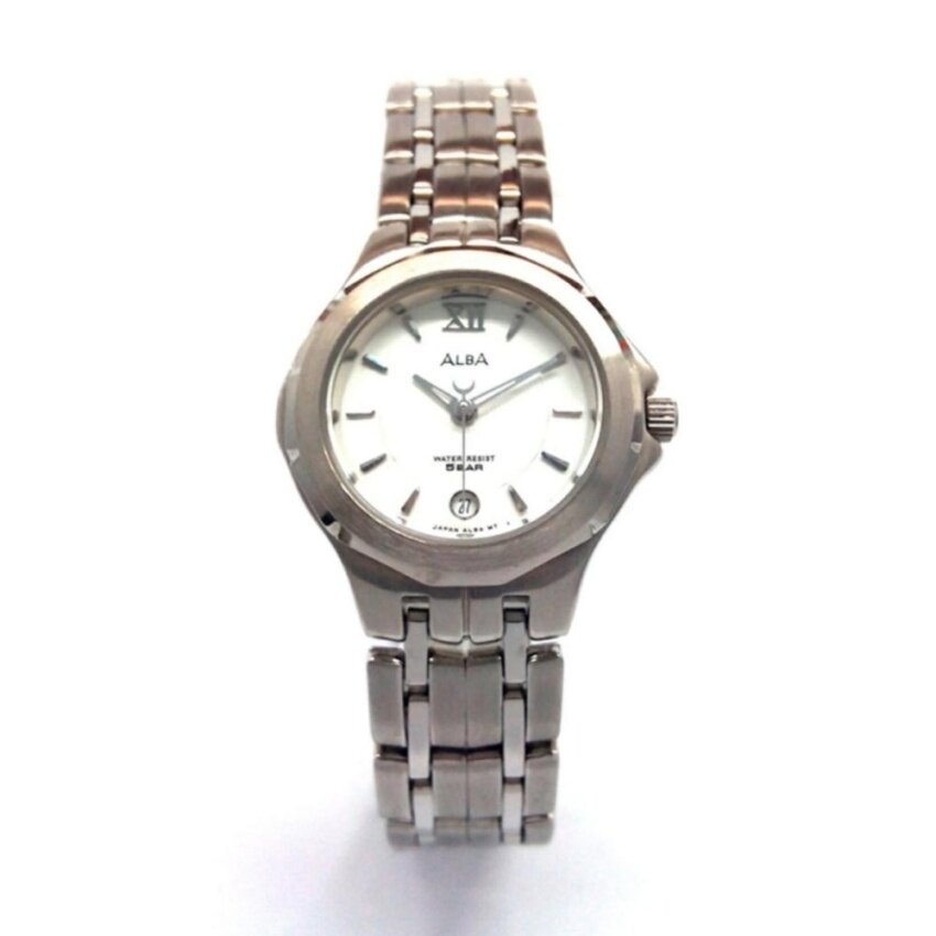 ALBA V782-X140 Japan Ana-Date Ladies Watch (White)