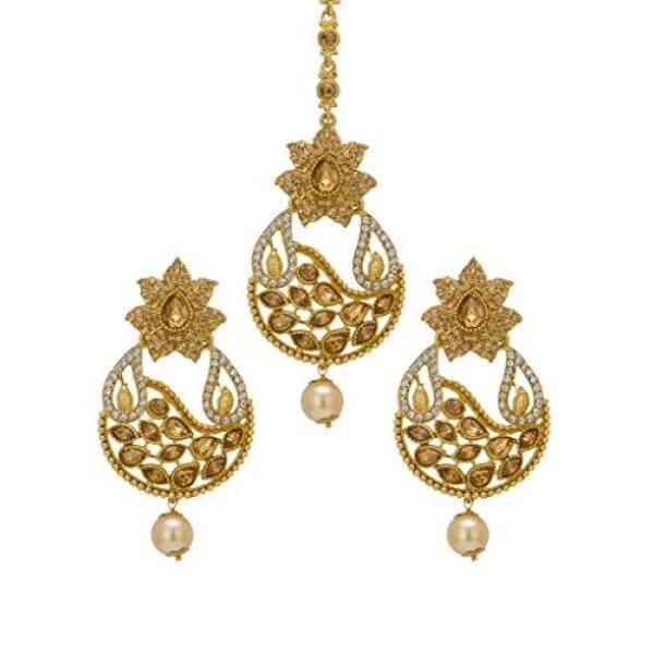Bindhani Pernikahan Pengantin India Pakistan Kepala Mang (Maang) Tikka (Tika) perhiasan: Anting-Anting untuk Wanita, China-Internasional