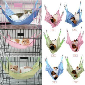 Breathable Pet Cat Dog House Hammock Bed Green S