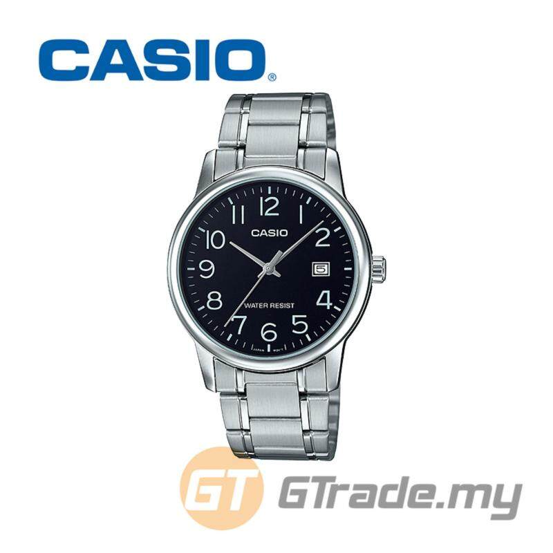 CASIO MEN MTP-V002D-1B Analog Watch  Date Display Simple Easy Malaysia