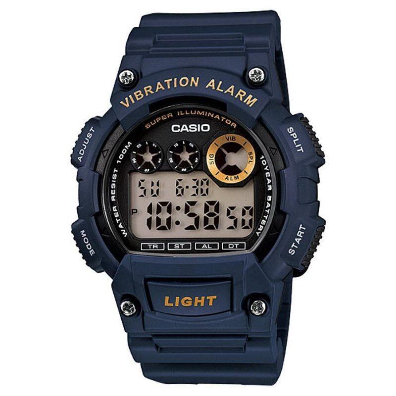 CASIO STANDARD W-735H-2AV Digital Watch - 10Y Batt. Vibrate Alarm Malaysia
